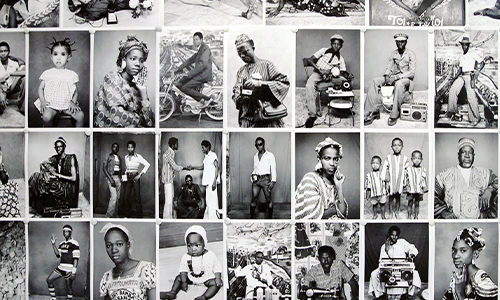 A collection of black and white photos of the African people of Mali