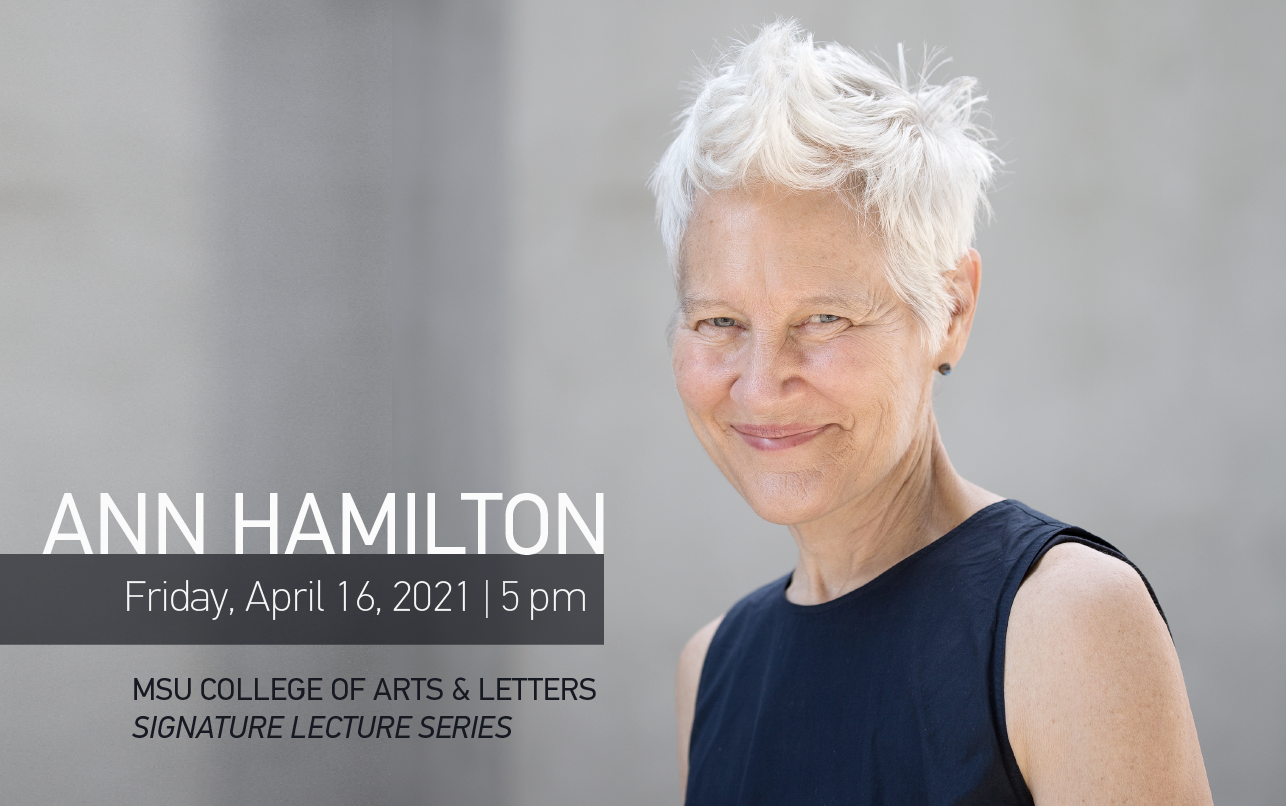 Visual Artist Ann Hamilton will offer Signature Lecture on April 16